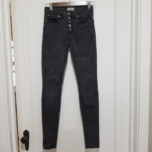 Mudd High-Rise Button Front Jeggings